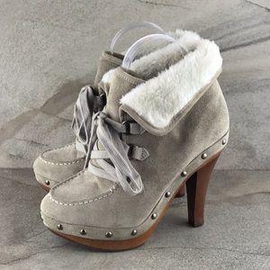 Guess Bountiful Suede High Heel Booties Size 7 EUC
